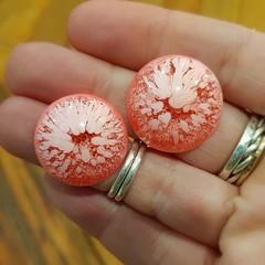 Resin Earrings - Light Pink