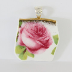 Old English Rose Pendant