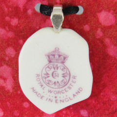 Vintage Royal Worcester 1923 backstamp Pendant