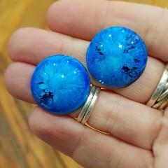 Resin Earrings - Blue