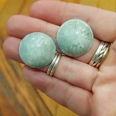 Resin Earrings - Grey