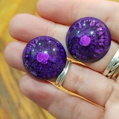 Resin Earrings - Purple