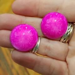 Resin Earrings - Pink