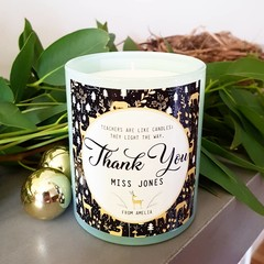 Personalised Teacher Thank You Candle Label