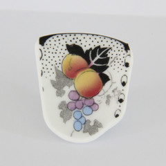 Peaches and Grapes Brooch