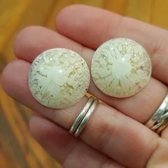 Resin Earrings - Pearl