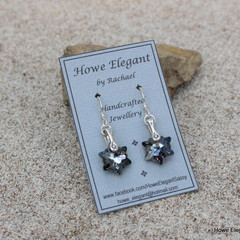 "Silver Crystal Swarovski ""stars"", Sterling Silver, earring"