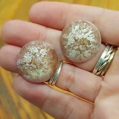 Resin Earrings - Copper