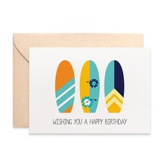 Surfing Birthday Card, Male Happy Birthday Card, Beach Lover Card, HBM076