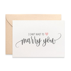 I can't wait to marry you Card, Wedding Day Card, Card for Husband, WED063