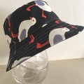 Boys summer hat in cheeky seagull fabric