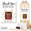 Personalised Teacher Thank You Wine Bottle Label