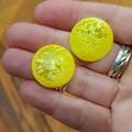 Resin Earrings - Yellow