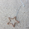 Swarovski Rose Gold crystal star, Sterling Silver, necklace