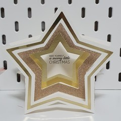 Christmas Star box card