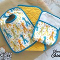 Baby Shower Gift Set - Nappy Change Mat, Bib and Burp Cloth