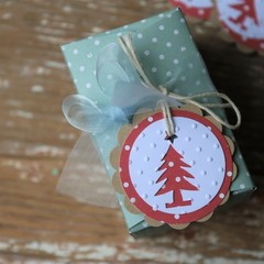 12 Handmade Christmas Tree Gift Tags Christmas Tags Favour Tags Tree Tags