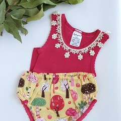 Singlet & Nappy Cover Set - Size 0 - Girl