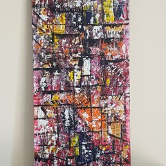 Abstract, The boxes we fit in. 30 x 60 cm