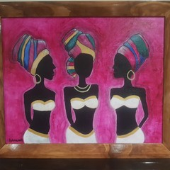 Africa local conversation  Abstract  60.8cm (W) x 50.6cm (H)