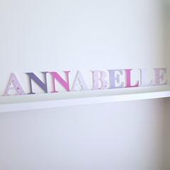 Name Plaque for Wall or Door.  9cm. 9 Letters