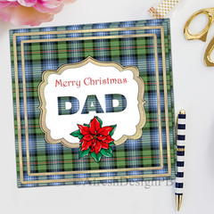 Tartan Christmas Dad Greeting Card