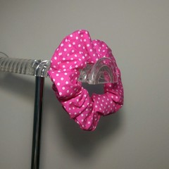 Hair Scrunchie Pink Spots