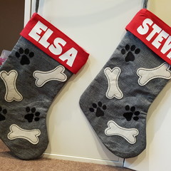 Personalised Pet Christmas Stocking