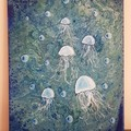 Jellyfish Two  One Off Unique  Abstract  40cm (W) x 50cm (H)