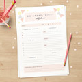 Downloadable Planner // Cute Stationery Printable to do list // 2020 Diary Page