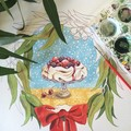 """Australian Christmas cards pack of 5,""""Let it snow!"""", Hand illustrated"""