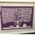 """Class gift, A3 Deluxe Teacher Tree"" Personalised Teacher Gift. Paper Cut Art."