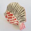 Sculptural, Decorative, Ceramic, Fish Form - 12cm x 10cm x 4cm.