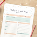 Printable Daily Planner // 2020 Diary Page Instant Download // To Do List