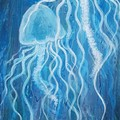 Abstract Jelly fish ONE  Abstract  40cm (W) x 123cm (H)