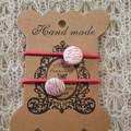 Hairband / Elastic - 'Zara' fabric covered button (15mm)