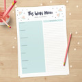 Instant Download Grocery List // Weekly meal planner // downloadable planner