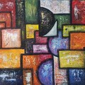Abstract shapes overload    40.6cm (W) x 50.8cm (H)