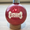 Personalised Pet Christmas Bauble