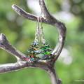 Swarovski Bling Xmas Trees, Sterling Silver, earring