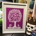 """Teacher Tree"" Personalised Teacher Gift. Paper Cut Art."