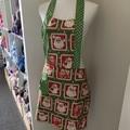 Christmas Santa low waisted Retro vintage style apron Free Postage