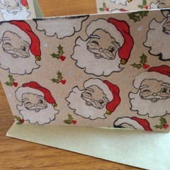 Traditional Father Christmas face card