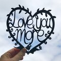 Love You More woodcut
