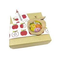 Apple for the Teacher Brooch - Mustard Blossom