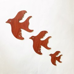 Jarrah Flying Birds (set of 3)