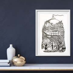 'Fremantle' framed print