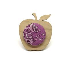 Apple Brooch - Purple Blossom