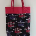 Kiss Tote  Japanese Style Handles, Handmade by Bronwyn Shop, Gift, Market.