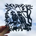 Carnaby Cockatoo woodcut
